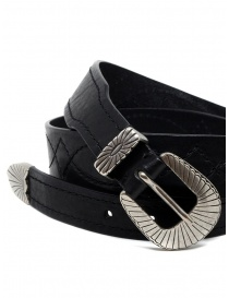 Post&Co TEX005 belt in black leather and metal buy online