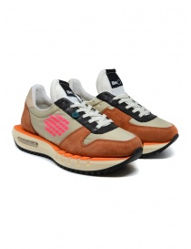 Calzature donna online: Sneakers BePositive Cyber Run arancio/rosa