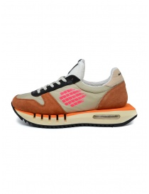 Sneakers BePositive Cyber Run arancio/rosa