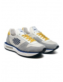Mens shoes online: BePositive Cyber Run white and yellow sneakers