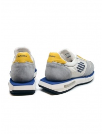 BePositive Cyber Run white and yellow sneakers