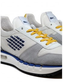 BePositive Cyber Run white and yellow sneakers mens shoes buy online