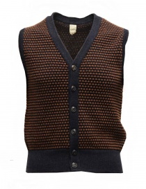 GRP two-tone rust-blue vest with raised stitches SFTEC2 BIC GILET BLU/RUG order online