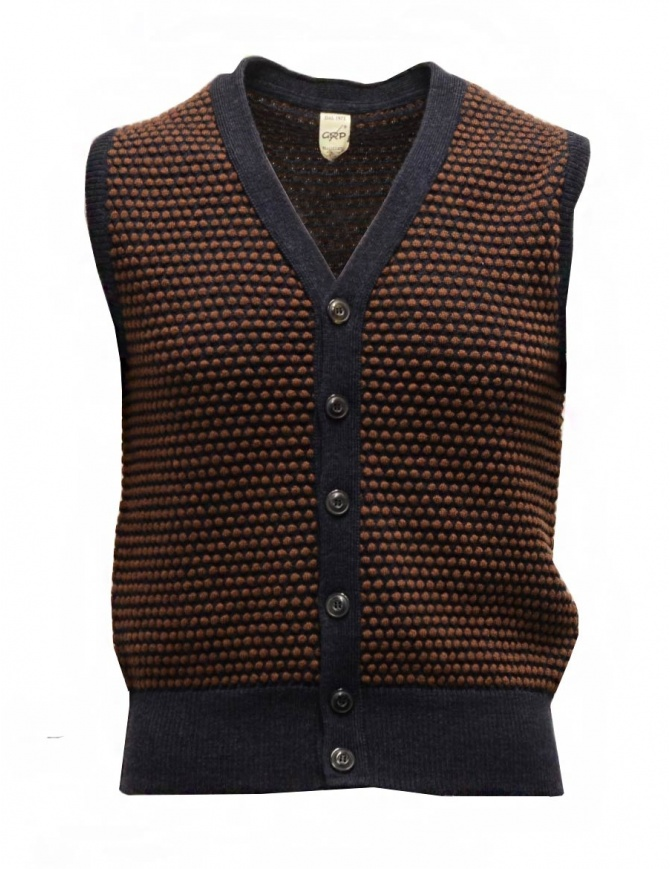 GRP two-tone rust-blue vest with raised stitches SFTEC2 BIC GILET BLU/RUG mens vests online shopping