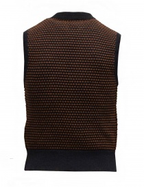 GRP two-tone rust-blue vest with raised stitches