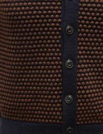 GRP two-tone rust-blue vest with raised stitches price