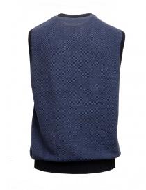 GRP blue and light blue cotton-linen vest price
