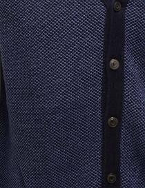 GRP gilet in cotone-lino blu e azzurro