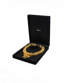 Kyara collana con piccoli moschettoni placcata in oro