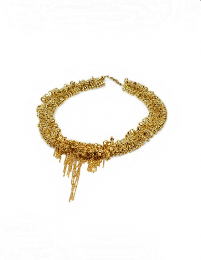 Kyara necklace with small gold-plated carabiners KP-N001-1-1 KYARA jewels online shopping