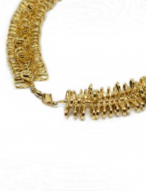 Kyara necklace with small gold-plated carabiners jewels buy online