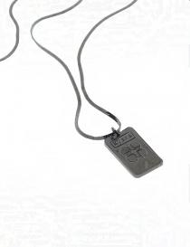 Kyara collana sottile a filo piatto in argento brunito preziosi prezzo