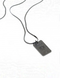Kyara thin flat wire necklace in burnished silver jewels price