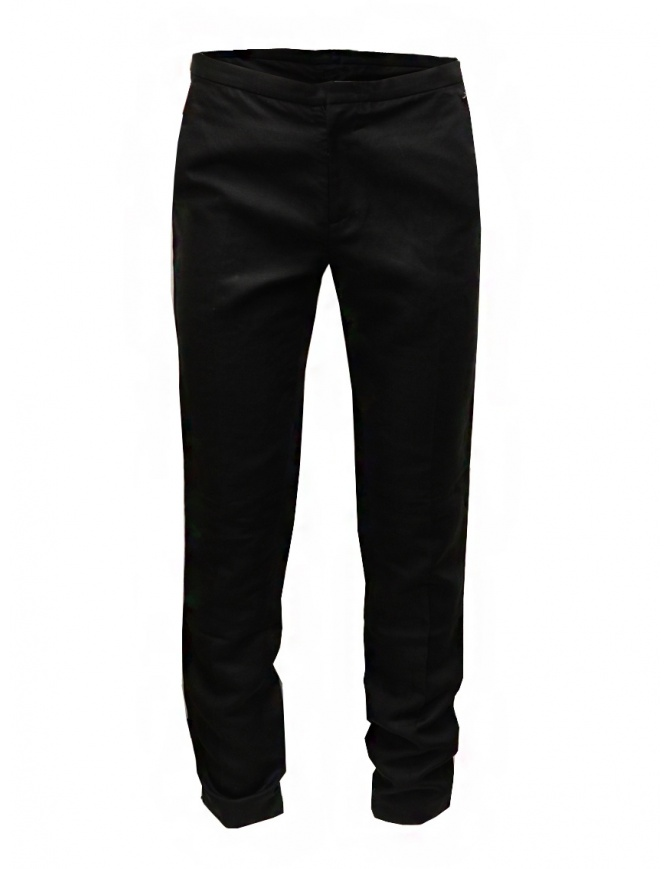 Cy Choi Boundary black pants in linen blend CA55P01ABK00 BLK mens trousers online shopping