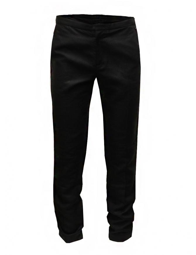 Cy Choi pantaloni Boundary neri in misto lino CA55P01ABK00 BLK pantaloni uomo online shopping
