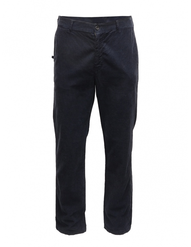 Golden Goose navy blue corduroy chino G21U502.A2 mens trousers online shopping
