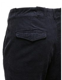 Golden Goose navy blue corduroy chino mens trousers buy online