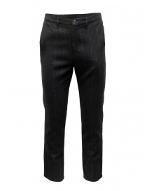 Golden Goose pantaloni grigi in lana a righe online