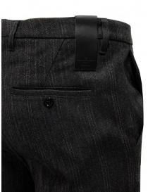 Golden Goose pantaloni grigi in lana a righe prezzo