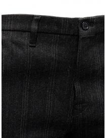 Golden Goose pantaloni grigi in lana a righe pantaloni uomo acquista online