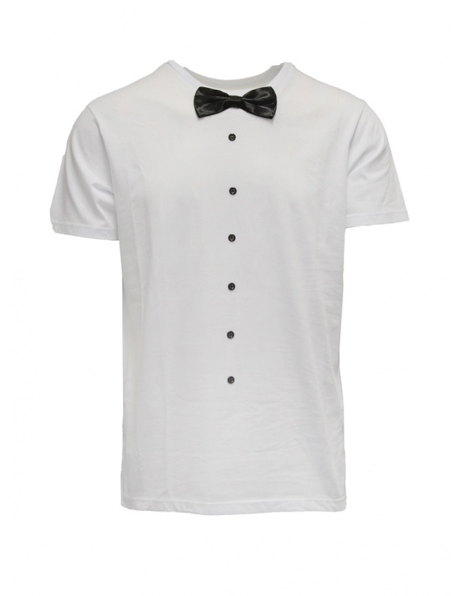 White T-shirt with bow tie T-SHIRT C36 PAPILLON mens t shirts online shopping