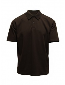 Mens t shirts online: Descente Pause brown polo