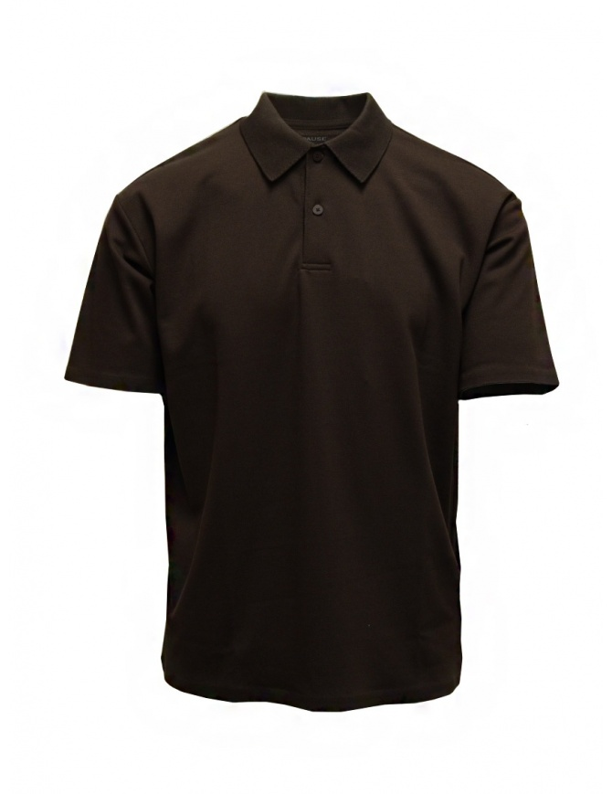 Descente Pause brown polo DLMPJA58U BWN