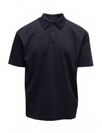 Mens t shirts online: Descente Pause navy blue polo