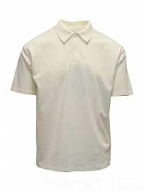 Mens t shirts online: Descente Pause white polo