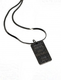 Kyara 999 silver necklace with black little diamonds