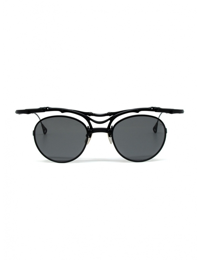 Innerraum OJ1 BM occhiali tondi in titanio nero opaco OJ1 44-20 BM GREY occhiali online shopping