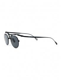 Innerraum OJ1 BM occhiali tondi in titanio nero opaco