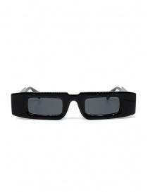 Kuboraum X5 rectangular black glasses with grey lenses X5 48-28 BS 2GRAY