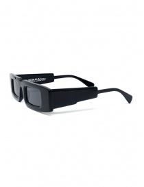 Kuboraum X5 rectangular black glasses with grey lenses buy online