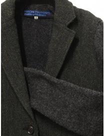 Hiromi Tsuyoshi herringbone green wool blazer-cardigan price