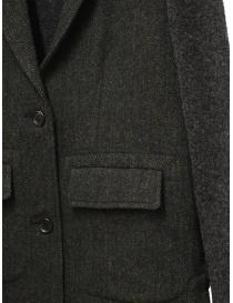 Hiromi Tsuyoshi herringbone green wool blazer-cardigan womens suit jackets buy online