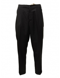 Mens trousers online: Cellar Door Ballet black pants with pinces
