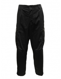 Mens trousers online: Cellar Door Pit black trousers with side pockets