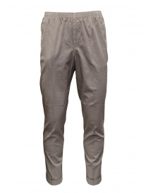 Mens trousers online: Cellar Door Alfred dove grey trousers with ruffled effect