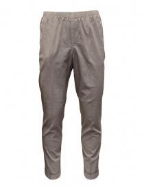 Cellar Door pantaloni Alfred grigio tortora effetto increspato ALFRED TAP. LF303 GRIGIO order online