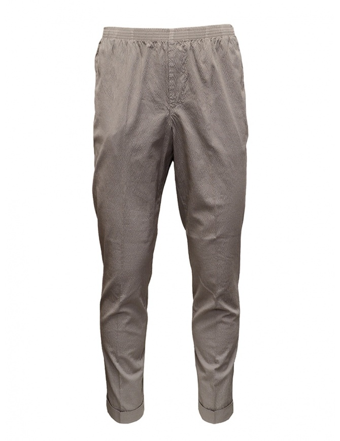 Cellar Door Alfred dove grey trousers with ruffled effect ALFRED TAP. LF303 GRIGIO mens trousers online shopping