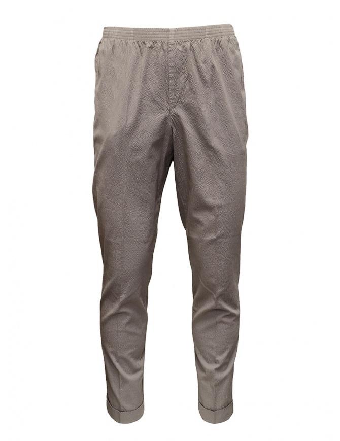 Cellar Door pantaloni Alfred grigio tortora effetto increspato ALFRED TAP. LF303 GRIGIO pantaloni uomo online shopping