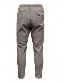 Cellar Door pantaloni Alfred grigio tortora effetto increspato