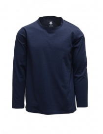 Mens knitwear online: Descente Tough Ligt blue long sleeve shirt