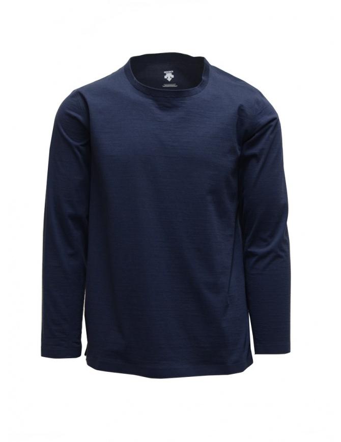 Descente Tough Ligt blue long sleeve shirt SHIRT DAMPGB62U NVBS mens knitwear online shopping