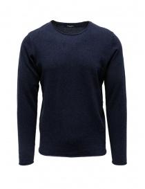 Selected Homme maglia in cotone e seta blu zaffiro online