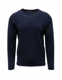 Mens knitwear online: Selected Homme sweater in sapphire blue silk blend cotton