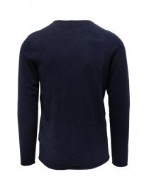 Selected Homme maglia in cotone e seta blu zaffiro