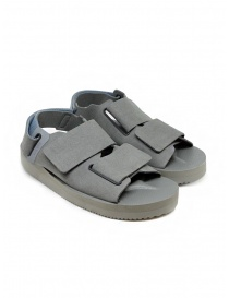 Mens shoes online: Descente x Suicoke grey sandals for AllTerrain