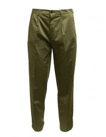 Mens trousers online: Cellar Door Modlu sage green trousers for man